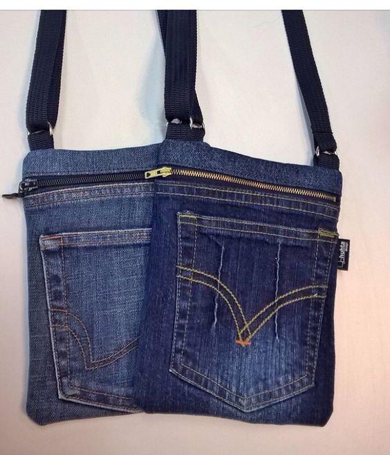 bolsa de calça jeans