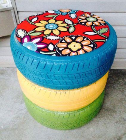 pneu na decoração