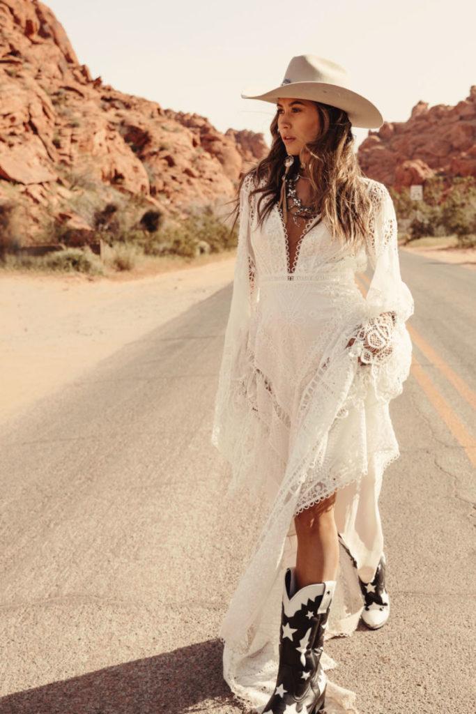 Vestidos de casamento elevados a um nível alto com esse conceito