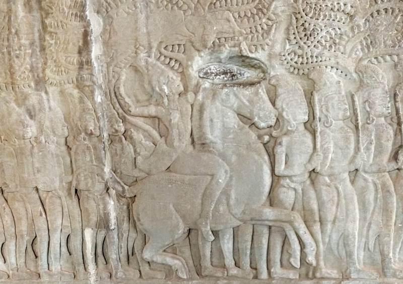 Cavalgada no Camboja