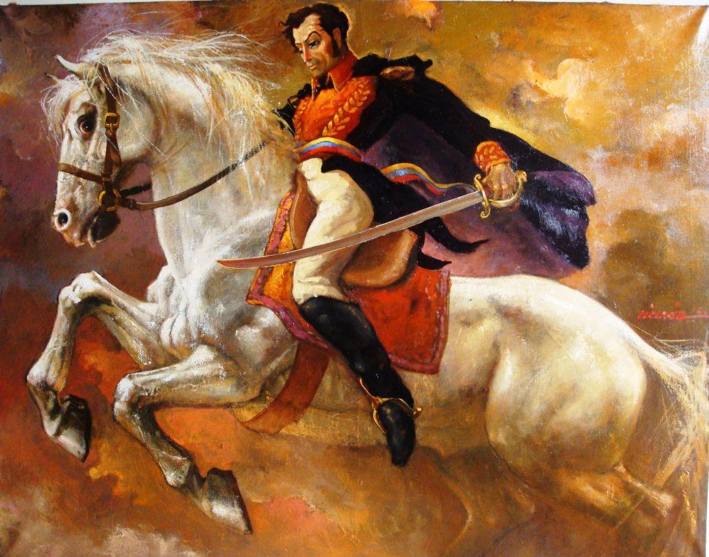 Palomo é o companheiro de batalhas de Simón Bolívar - Cavalus