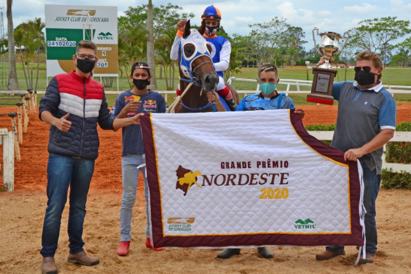 Segundo ano de realização do GP Nordeste contou com cinco animais. A expectativa do Jockey Club é que esse número cresça a cada ano