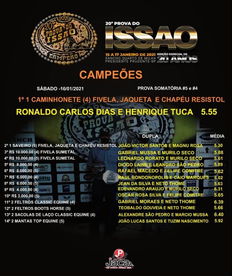 A edição comemorativa de 20 anos da Prova do Issao aconteceu na arena coberta do Rancho Quarto de Milha, em Presidente Prudente/SP