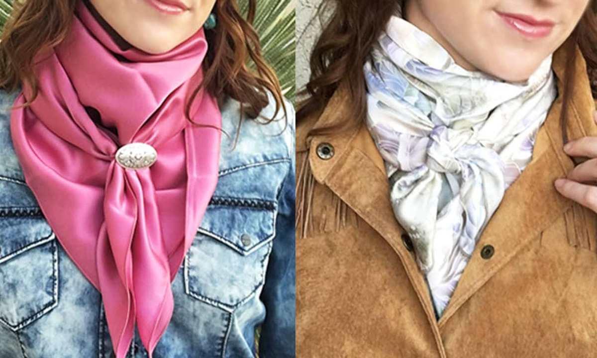 Lenço de seda em diferentes amarrações dá aquele up no visual