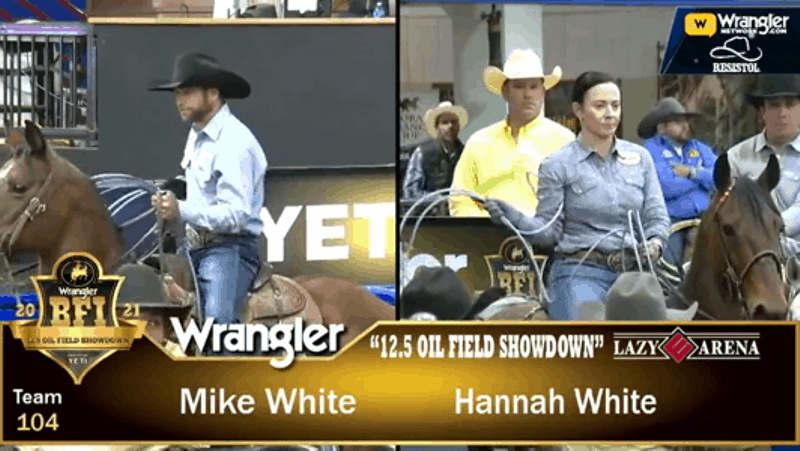 Mike White, aposentado das arenas de rodeio desde 2010, campeão mundial de Montaria em Touros pela PRCA, hoje treina cavalos de laço