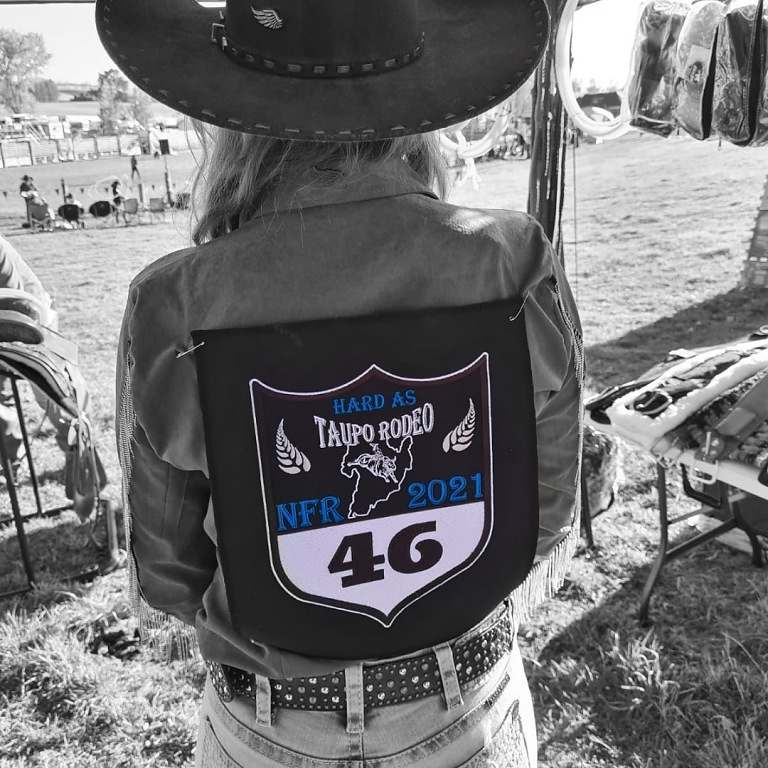 temporada de rodeio da Nova Zelândia: esse foi o segundo ano completo de Nancy Franco pela New Zealand Rodeo Cowboy Association