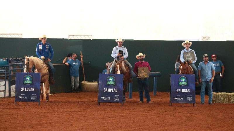 Shinning Candy MA, de propriedade do Haras NSA Farm Quarter Horse venceu praticamente todas as provas sobre a sela de Rafael Paoliello