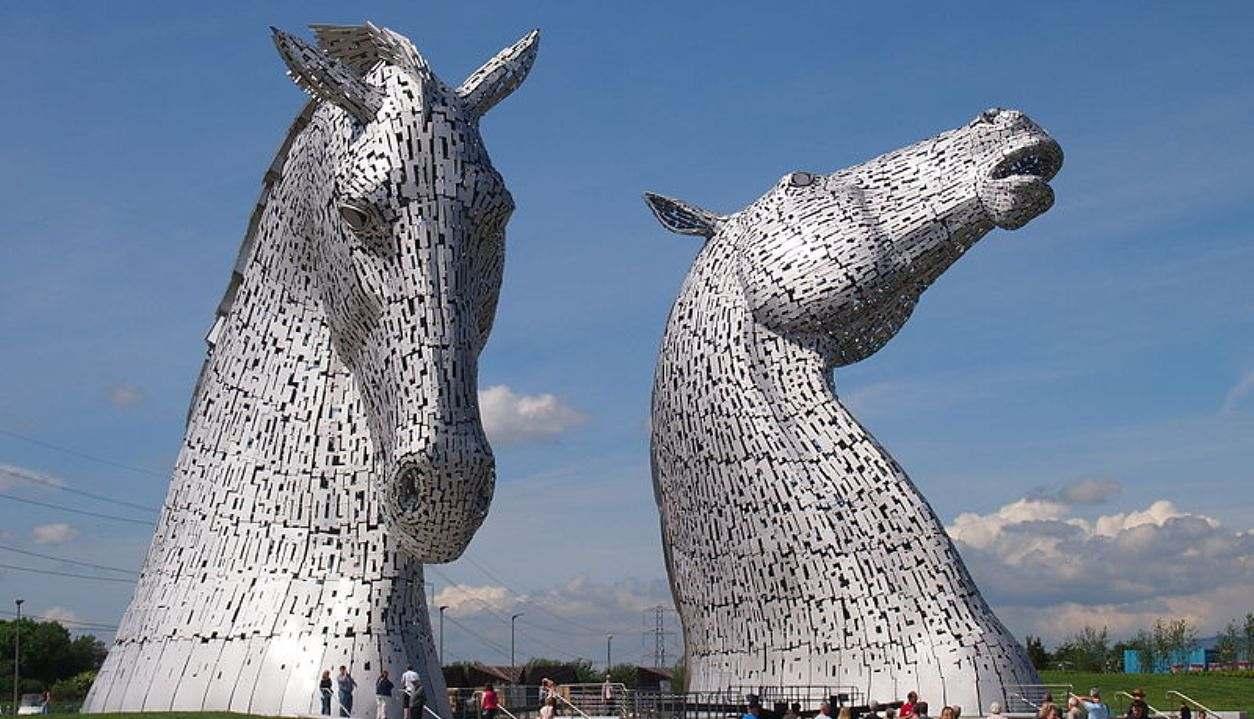 Você já ouviu falar das esculturas The Kelpies localizadas na Escócia?