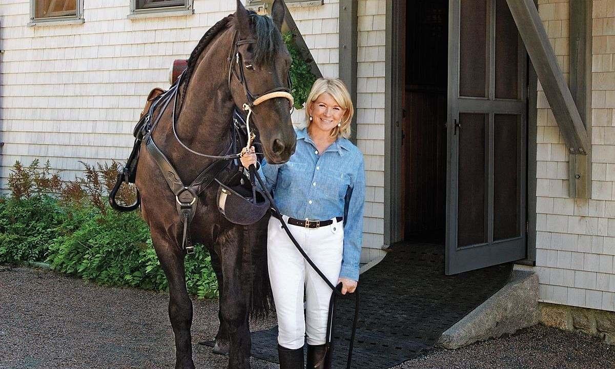 Celebridade americana, Martha Stewart é apaixonada pelo cavalo Frísio