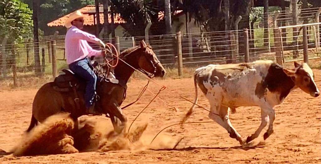 Robledo Junior, nascido no meio, conta que já praticou mais de cinco modalidades; hoje se dedica profissionalmente ao Laço em Dupla