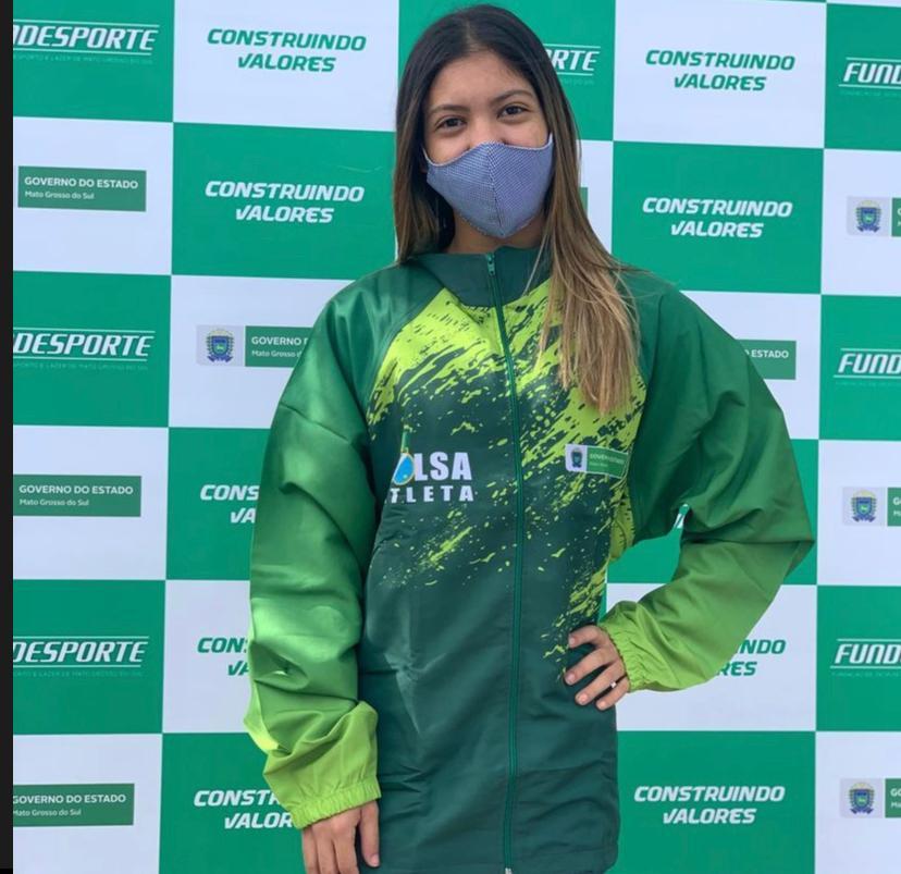 """Luana Bastos é a primeira atleta dos Três Tambores a receber """"Bolsa Atleta"""" pelo Governo do Estado de Mato Grosso do Sul"""