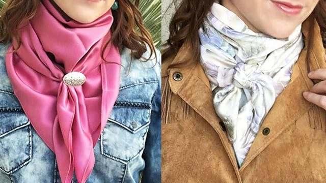 Lenço de seda em diferentes amarrações dá aquele up no visual 01